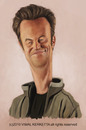 Cartoon: matthew perry caricature (small) by vim_kerk tagged matthew,perry,friends,chandler,bing,monica,rachel,ross,caricature,sarcastic