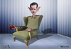 Cartoon: Syrian President Bashar al-Assad (small) by almosihij tagged syria,bashar,alassad,the,middle,east,war,of,terrorism,crimes