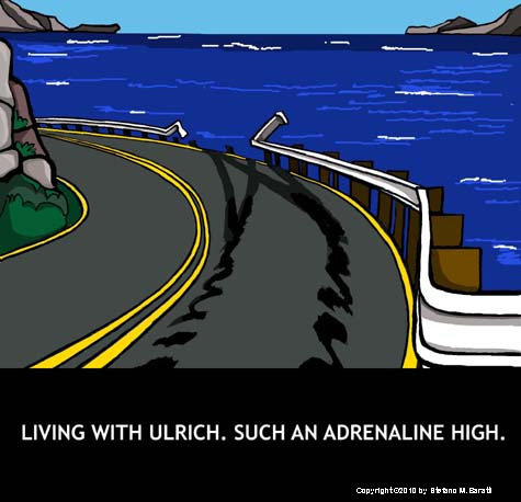 Cartoon: Living with Ulrich (medium) by perugino tagged love,relationships