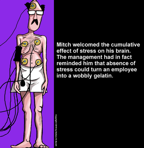 Cartoon: Stress Management (medium) by perugino tagged stress,work,office,corporation,employment