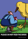 Cartoon: At the Park (small) by perugino tagged animals,birds,evolution