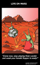 Cartoon: The Red Planet (small) by perugino tagged mars,life,on,planets,space
