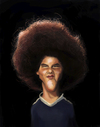 Cartoon: Mr. Fro (small) by doodleart tagged caricature