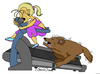 Cartoon: Dog Eat Dog World (small) by JohnnyCartoons tagged treadmill,exercise,blonde,dog
