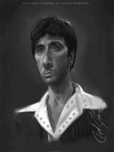 Cartoon: Tony Montana (medium) by thatboycandraw tagged tony,montana,al,pacino,scarface