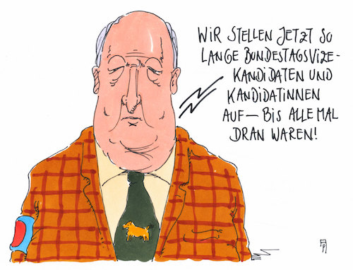 Cartoon: alle mal (medium) by Andreas Prüstel tagged afd,bundestag,fraktion,wahl,bundestagsvizepräsidentin,kandidatin,harder,kahnel,gauland,cartoon,karikatur,andreas,pruestel,afd,bundestag,fraktion,wahl,bundestagsvizepräsidentin,kandidatin,harder,kahnel,gauland,cartoon,karikatur,andreas,pruestel