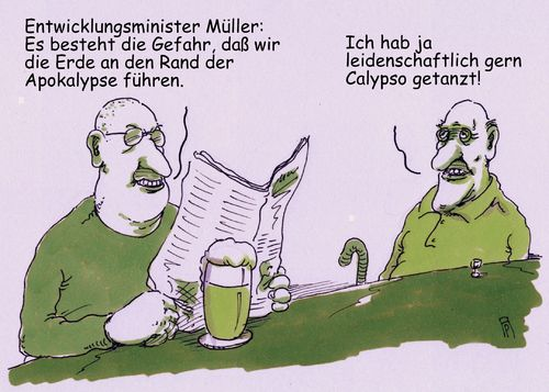 Cartoon: calypse (medium) by Andreas Prüstel tagged apokalypse,calypso,entwicklungsminister,gerd,müller,csu,klimawandel,erderwärmung,tanzen,cartoon,karikatur,andreas,pruestel,apokalypse,calypso,entwicklungsminister,gerd,müller,csu,klimawandel,erderwärmung,tanzen,cartoon,karikatur,andreas,pruestel