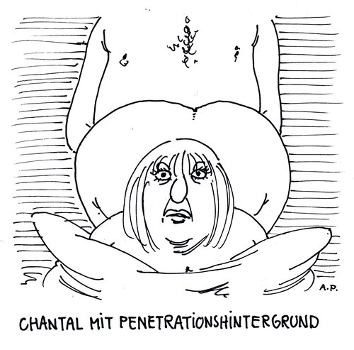 Cartoon: chantal (medium) by Andreas Prüstel tagged chantal,penetration,hintergründe,geschlechtsverkehr,doggystellung,cartoon,karikatur,andreas,prüstel