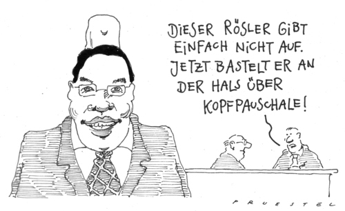 Cartoon: reformwahn (medium) by Andreas Prüstel tagged gesundheitsreform,gesundheitsminister,rösler,kopfpauschale,gesundheitsreform,gesundheitsminister,rösler,kopfpauschale,gesundheit