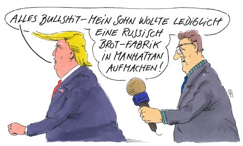 Cartoon: sohnemann (medium) by Andreas Prüstel tagged usa,trump,sohn,russlandkontakte,wahlkampf,ermittler,russisch,brot,manhattan,cartoon,karikatur,andreas,pruestel,usa,trump,sohn,russlandkontakte,wahlkampf,ermittler,russisch,brot,manhattan,cartoon,karikatur,andreas,pruestel