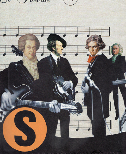 Cartoon: super-group (medium) by Andreas Prüstel tagged beatles,mozart,wagner,beethoven,bach
