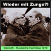 Cartoon: harmonie (small) by Andreas Prüstel tagged ddr,udssr,sowjetunion,deutsche,russen,erich,honecker,leonid,breschnew,cartoon,collage,andreas,pruestel