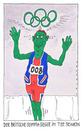 Cartoon: london 2012 (small) by Andreas Prüstel tagged olympiade,london,großbritannien,tee,grünertee,olympiasieger