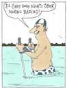 Cartoon: wassersport (small) by Andreas Prüstel tagged freizeitsport,nordic,walking,baden