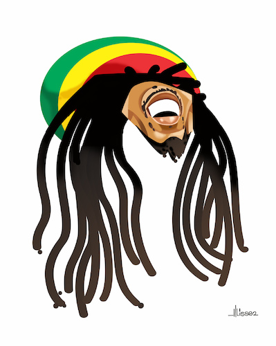 Cartoon: Bob Marley (medium) by Ulisses-araujo tagged bob,marley