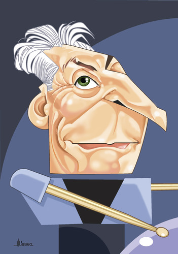 Cartoon: Charlie Watts (medium) by Ulisses-araujo tagged charlie,watts