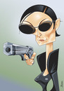 Cartoon: Carrie Anne Moss (small) by Ulisses-araujo tagged carrie,anne,moss