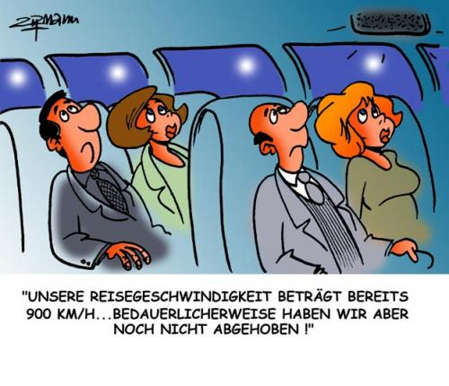 Cartoon: Flieger (medium) by Georg Zitzmann tagged reisen,tourismus,fliegen,flieger,airbus,flugreisen