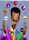 Cartoon: Bashar Alassad (small) by handren khoshnaw tagged handren khoshnaw