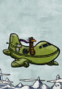 Cartoon: travel (small) by ernesto guerrero tagged aeroplane,travel,animals