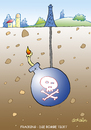 Cartoon: Fracking (small) by astaltoons tagged fracking,umwelt,gifte