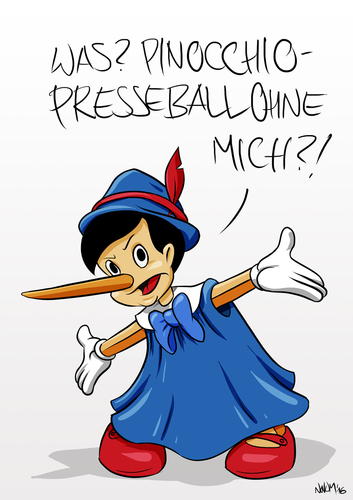 Cartoon: Pinocchio Presseball (medium) by INovumI tagged petry,meuthen,bundespresseball,pinocchiopresse
