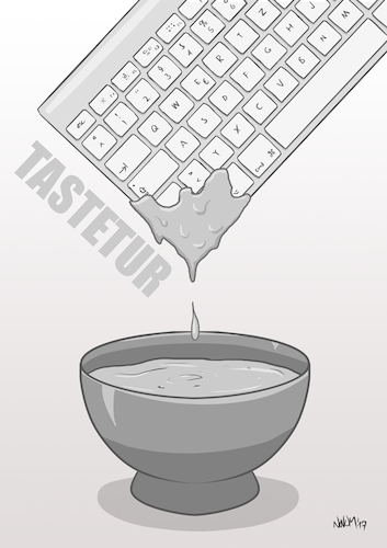Cartoon: Tastetur (medium) by INovumI tagged tastatur,taste,dip,beißen,essen