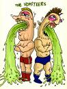Cartoon: The Vomiteers (small) by D-kay tagged wrestler tag team puke