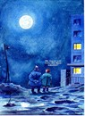 Cartoon: hinterm Mond- (small) by Reiner Schwalme tagged wohnen