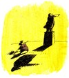 Cartoon: Schatten (small) by Reiner Schwalme tagged schatten