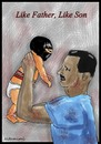 Cartoon: like father like son (small) by Mohamad Altamimi tagged al,assad,isis