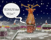 Cartoon: chimneytrouble (small) by ab tagged santa,chimney,reindeer