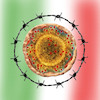 Cartoon: chiuso (small) by ab tagged virus,corona,europa,italien