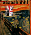 Cartoon: enough (small) by ab tagged brexit,uk,may,eu,munch,scream