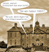 Cartoon: lord snobys vorfahren (small) by ab tagged england,schloss,lord,alt,zeit,digital,crazy,butler