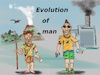 Cartoon: progress (small) by ab tagged man,menkind,past,future,evolution,dirt,smog,plastic