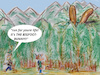 Cartoon: surprise (small) by ab tagged wood,hunter,bunny,rabbit,big,forest,mystery