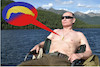 Cartoon: urlaubski (small) by ab tagged putin,holiday,relaxed
