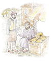 Cartoon: Seven Sleepers (small) by Tufan Selcuk tagged historical,seven,sleepers,antique