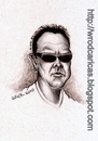 Cartoon: Lars Ulrich (small) by WROD tagged lars,ulrich,metallica,drummer