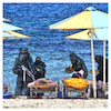 Cartoon: All Inclusive (small) by Night Owl tagged allinclusive,urlaub,strand,is,terror
