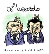 Cartoon: Accordo (small) by Giulio Laurenzi tagged berlusconi,sarkozy,schengen,italia,francia