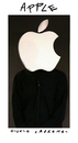 Cartoon: White on Black (small) by Giulio Laurenzi tagged steve,jobs,apple