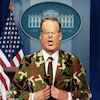 Cartoon: Camouflage (small) by Bart van Leeuwen tagged spicer,fbi,trump,press,sean