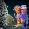 Cartoon: Ghost of Christmas yet to come (small) by Bart van Leeuwen tagged christmas,trump,mueller,scrooge,hollidays