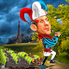 Cartoon: Ratatouille (small) by Bart van Leeuwen tagged gilets,jaunes,yellow,vests,macron,eiffel,tower,paris