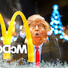 Cartoon: Shutdown (small) by Bart van Leeuwen tagged shutdown,christmas,mcdonalds,border,wall