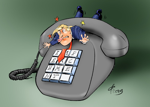 Cartoon: Erhöhter Druck (medium) by Paolo Calleri tagged usa,ukraine,us,praesident,donald,trump,anruf,telefonat,selenskj,druck,erpressung,militaerhilfen,finanzen,whistleblower,zeugen,gespraech,amtsenthebung,impeachment,verfahren,demokraten,republikaner,karikatur,cartoon,paolo,calleri,usa,ukraine,us,praesident,donald,trump,anruf,telefonat,selenskj,druck,erpressung,militaerhilfen,finanzen,whistleblower,zeugen,gespraech,amtsenthebung,impeachment,verfahren,demokraten,republikaner,karikatur,cartoon,paolo,calleri