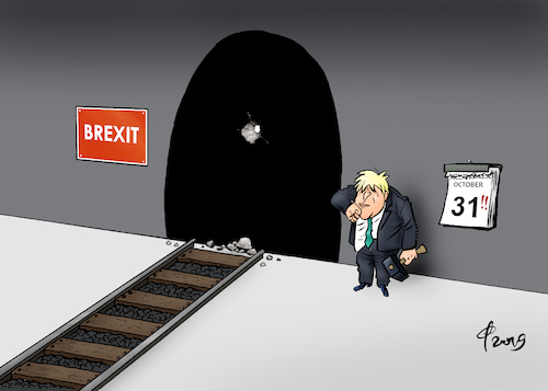 Cartoon: Licht am Ende des Tunnels (medium) by Paolo Calleri tagged eu,uk,gb,vereinigtes,koenigreich,premier,premierminister,boris,johnson,vorschlaege,zeitdruck,zeit,brexit,austritt,gemeinschaft,wirtschaft,no,deal,backstop,karikatur,cartoon,paolo,calleri,eu,uk,gb,vereinigtes,koenigreich,premier,premierminister,boris,johnson,vorschlaege,zeitdruck,zeit,brexit,austritt,gemeinschaft,wirtschaft,no,deal,backstop,karikatur,cartoon,paolo,calleri