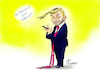 Cartoon: Christian Trump (small) by Paolo Calleri tagged deutschland wahlen fdp union gruene sondierungsgespraeche klima klimaziele klimaveraenderung klimapolitik trumpisierung liberale parteichef christian lindner ehrgeizig abkehr karikatur cartoon paolo calleri